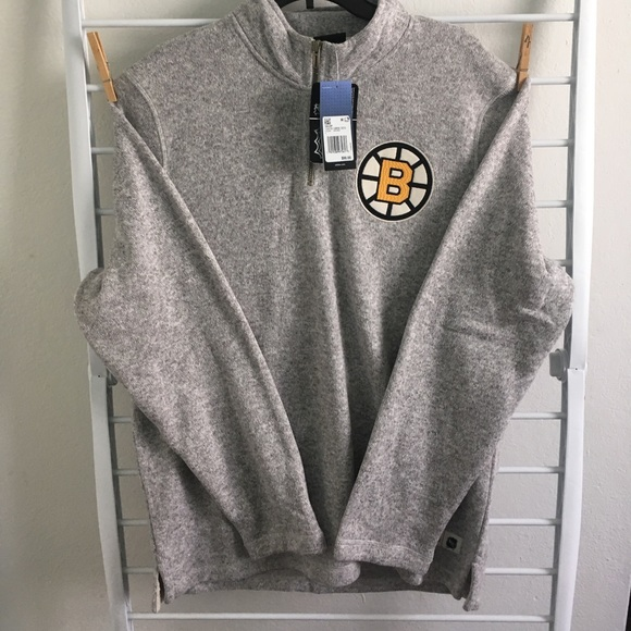 adidas Other - Boston Bruins Quarter Zip Up Sweater